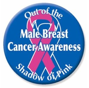 breast cancer in men button