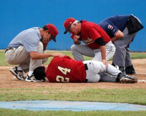 summertime sports Injury baseball